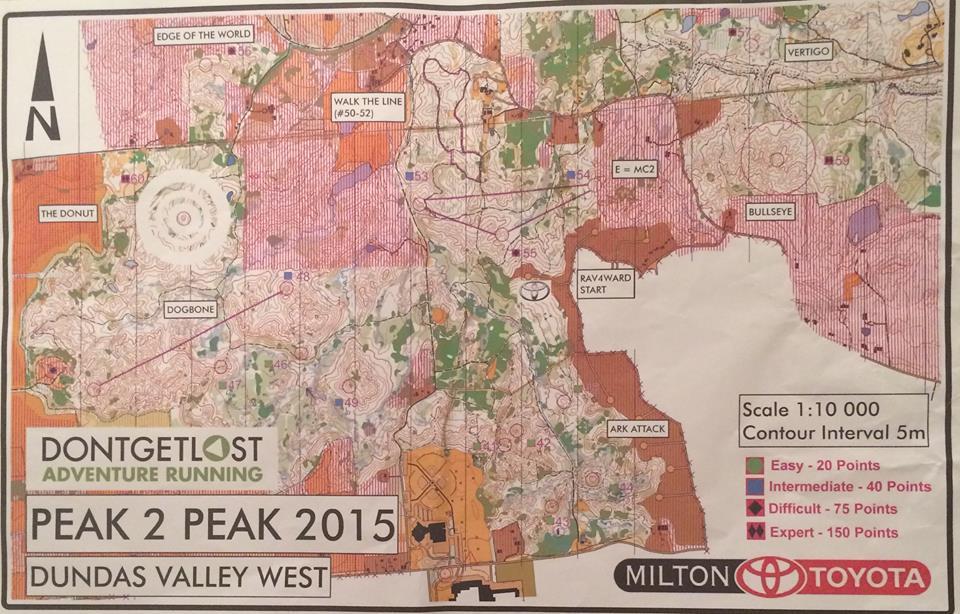 Peak 2 Peak 2015 adventure map