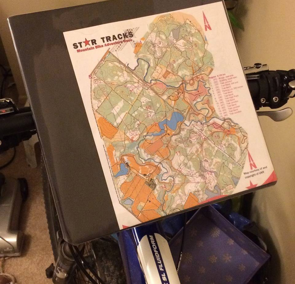 Course Map on Bike Map holder