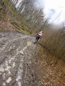 Lots of trail mud