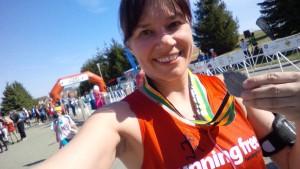 Run for the Diamond 10K finish