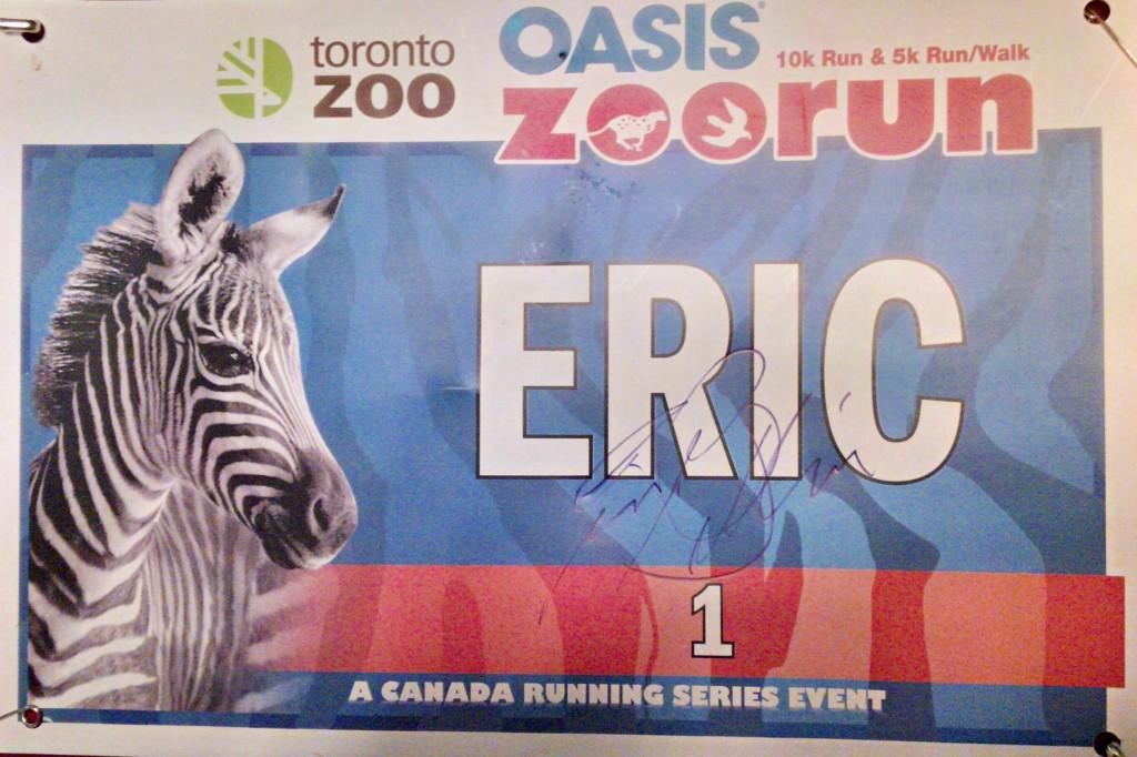 Eric Gillis Race Bib